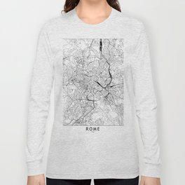 Rome White Map Long Sleeve T-shirt