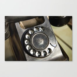 Retro rotary dial telephone Canvas Print