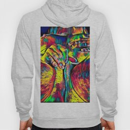 4281s-RES Abstract Pop Color Erotica Pleasuring Psychedelic Yoni Self Love Hoody