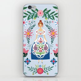 Fairy Tale Folk Art Garden iPhone Skin