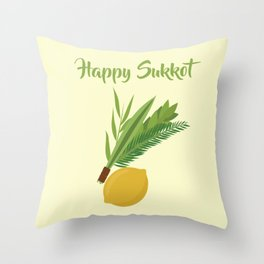 Wish You a Very Joyful Sukkot Throw Pillow