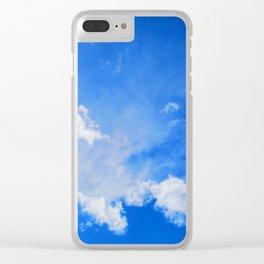 blue cloudy sky std Clear iPhone Case