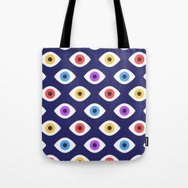 Lucky Eyes Vintage Pattern Tote Bag