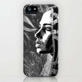 Fiona Apple b&w iPhone Case