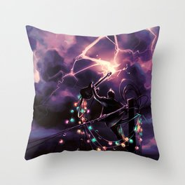 Defy the sky Throw Pillow