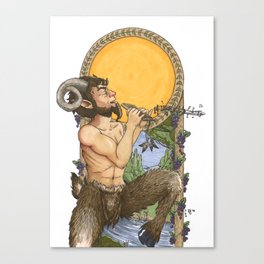 The God Pan Canvas Print