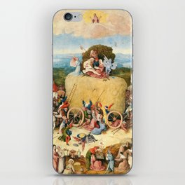 The Haywain Triptych by Bosch 1519 iPhone Skin