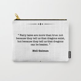 Neil Gaiman Quote Carry-All Pouch