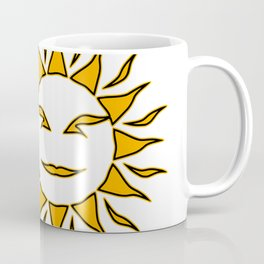 Smiling Sun Eclipsing the Moon Coffee Mug