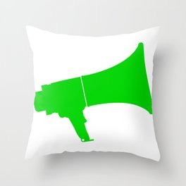 Green Isolated Megaphone Throw Pillow