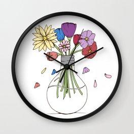 Cut Flowers Wall Clock