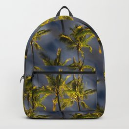 Palm Trees Tropical Night Pattern Backpack