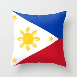 Philippines national flag Throw Pillow