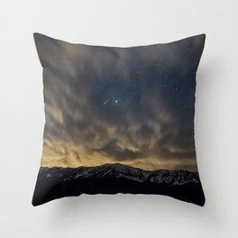 Meteor Over The Bridgers Throw Pillow