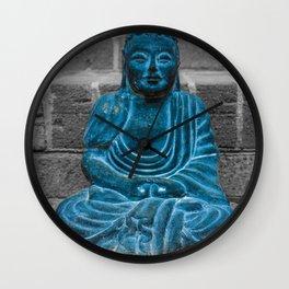 Blue Buddah Wall Clock