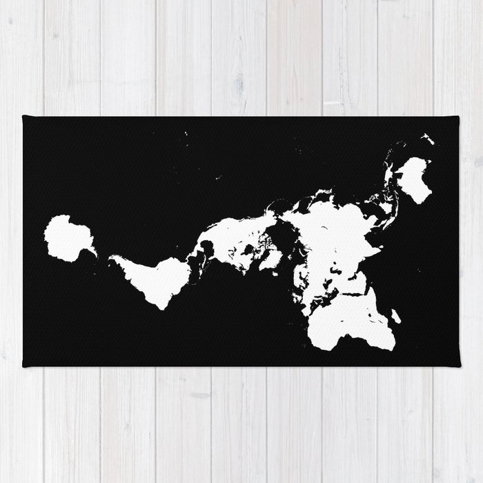 Dymaxion world map fuller projection map minimalist white on dymaxion world map fuller projection map minimalist white on black rug gumiabroncs Images