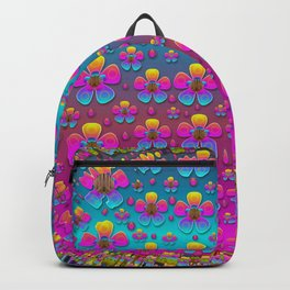 Freedom Peace Flowers Raining In Rainbows Backpack