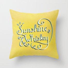 Sunshine & Whiskey Throw Pillow