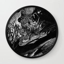 Flowering - Untitled Face III Wall Clock