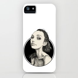 Arina Black Circle iPhone Case