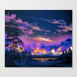 Night Sky Sunset Canvas Print