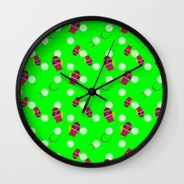 Tiny Mittens (green) Wall Clock