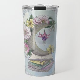 Freedom, Books, Flowers and The Moon Travel Mug