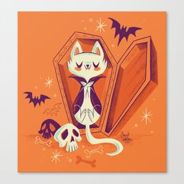 Vampire Kitty Canvas Print