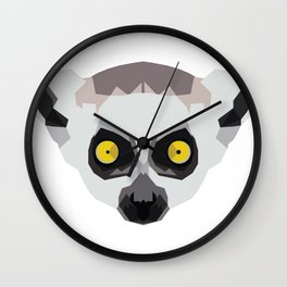 Ringtailed Lemur Wall Clock