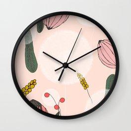 Blushing Blooms Wall Clock
