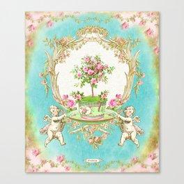 French Baroque Patisserie Tea Canvas Print