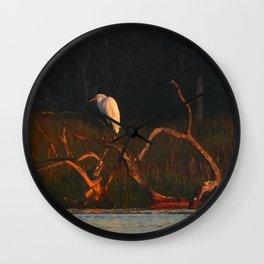 Sunrise Marsh Bird Wall Clock