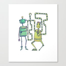 Robo Pirates! Canvas Print