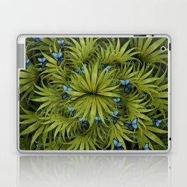 """El Bosco fantasy, tropical island blue butterflies"" Laptop & iPad Skin"