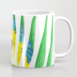 Parrot Palm Leaf Coffee Mug