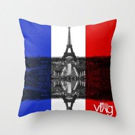 Paris Pride Throw Pillow