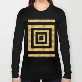ART DECO SQUARES BLACK AND GOLD #minimal #art #design #kirovair #buyart #decor #home Long Sleeve T-shirt