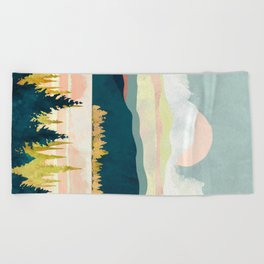 Lake Forest Beach Towel