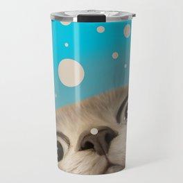 """""""Fun Kitty and Polka dots"""" Travel Mug"""