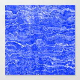Egyptian Marble, Lapis Blue Canvas Print