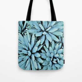 succulents in turquoise Tote Bag