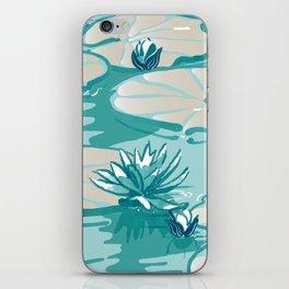 Monets Waterlilies Pattern — Mint Green iPhone Skin