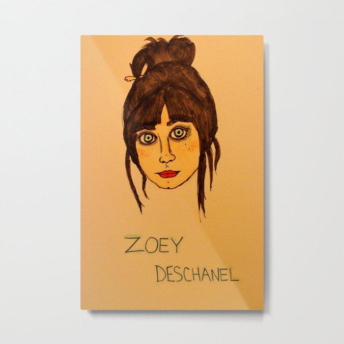 Zoey Deschanel Metal Print