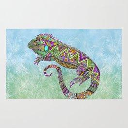 Electric Iguana Rug