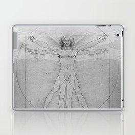 Leonardo da Vinci Vitruvian Man with Wings Study of Angels Laptop & iPad Skin