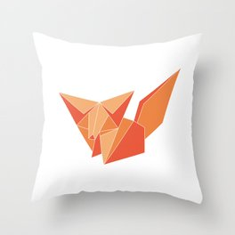 """Collection """"Origami"""" impression """"Fox Paper"""" Throw Pillow"""