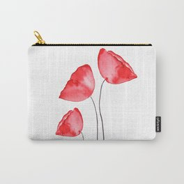 3 red poppies watercolor Carry-All Pouch