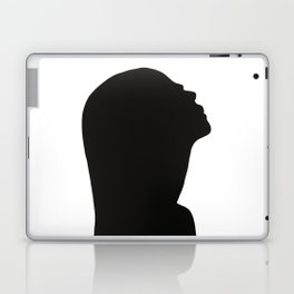 Black and white face silhouette - Portrait Laptop & iPad Skin