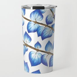 Breezy Blue Leaves Travel Mug