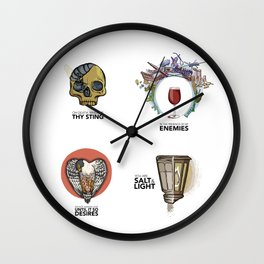 4 Biblical phrases Wall Clock